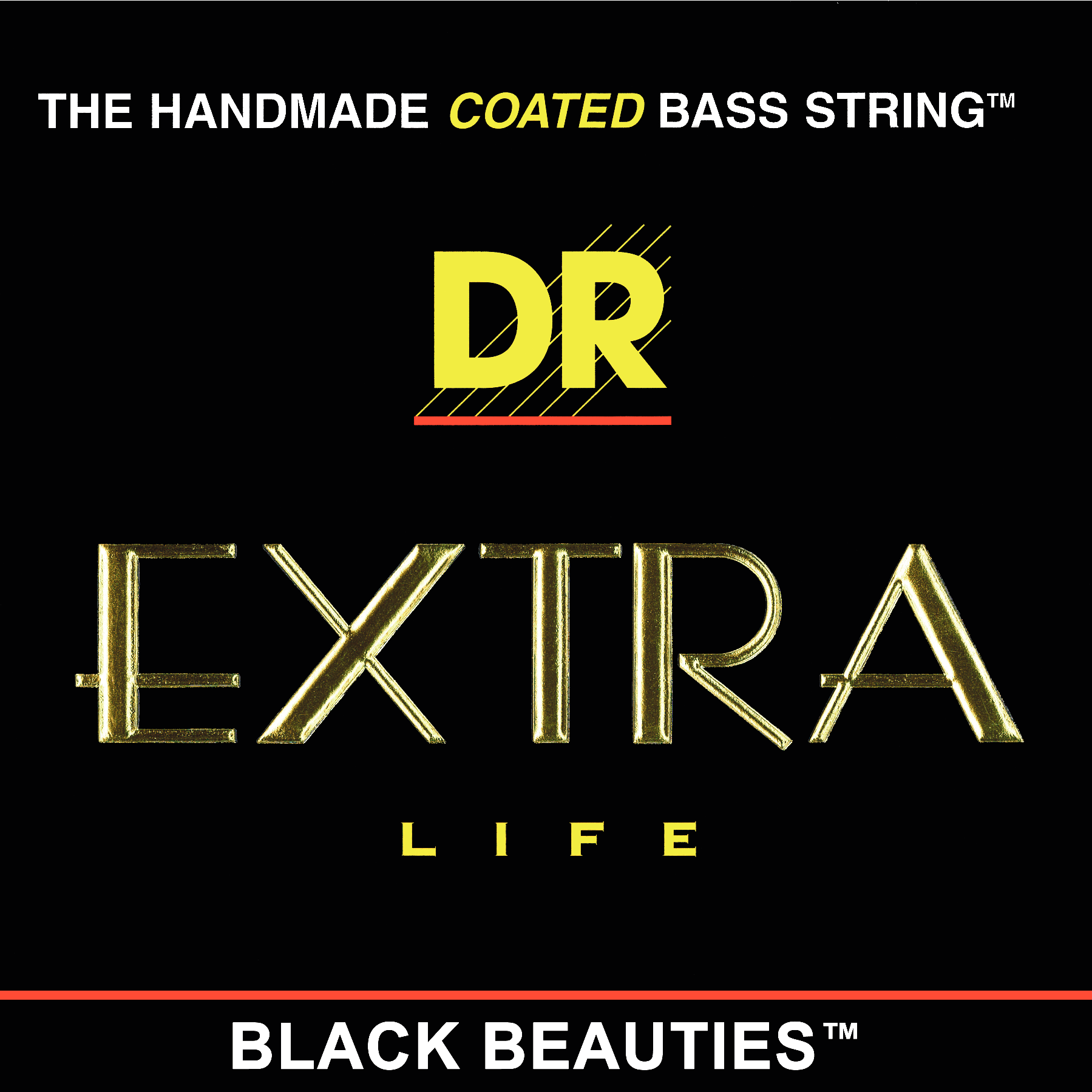 Extra Black Beauties Lite 5 String (.040 - .120), DR B EXBK BKB5-40