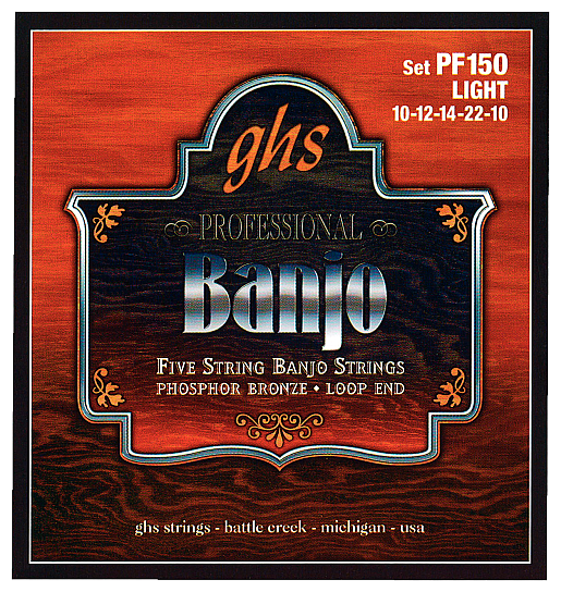 5 Banjo PhosphBronze M (.010 - .026), GHS PF 160 MEDIUM