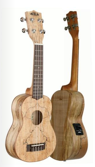Makala Spalted Maple tenorové ukulele s EQ